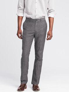 Kentfield Slim Linen Cotton Pant