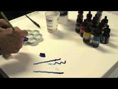 Liquitex Acrylic ink! - YouTube