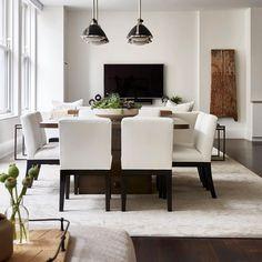 Pretty neutrals in this modern flatiron apartment.