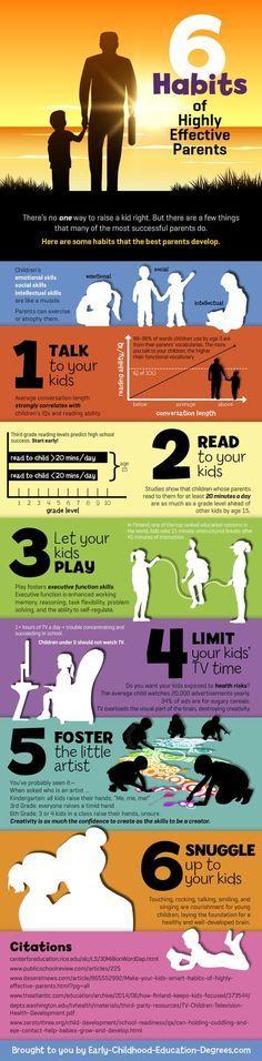 6 Habits of Highly Effective Parents kids success parents parent children parenting how to habits successful self improvement parenting tips