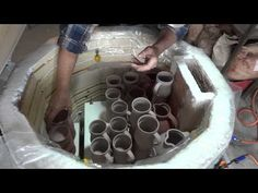 SIMON LEACH POTTERY TV - Packing kiln for a bisque firing - YouTube