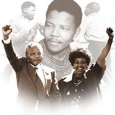 Winnie Mandela and Nelson Mandela Picture - Photo of Winnie Mandela - FanPix. Nelson Mandela Pictures, End Of Apartheid, Winnie Mandela, Blackfoot Indian, Freedom Day, First Black President, Black Presidents, Black Down, Black History