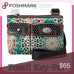 """🎀 🎀Fossil Cross Bag Adjustable Strap New perfect 🌷🌷🌷 Super Cute Cross Bag 🌷🌷🌷 Key Pier Fossil bag two front pockets, one small zip pocket inside 🌷🌷🌷Product Specifications Exterior Dimensions: 10.75"""" x 8"""" x 2"""", Adjustable Strap Drop Length: 22"""" 🌷🌷🌷 Material: Coated Cotton Canvas🎀 Love this bag perfect size for everyday pursue wipes  clean 🎀🎀🎀🎀 Fossil Bags Crossbody Bags"""