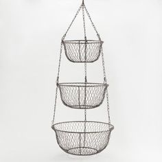 Amazon.com: Three-Tier Hanging Wire Basket - World Market: Home & Kitchen