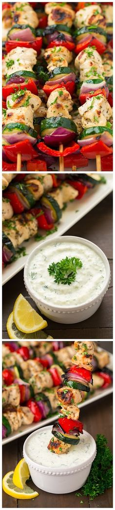 Greek Chicken Kebabs with Tzatziki Sauce - Recipeez Blog