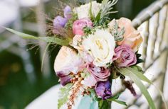 Bouquets on the ends of each row look gorgeous as you walk down the aisle #weddingflowers