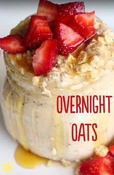 OVERNIGHT OATS 3 WAYS #overnight #oats #breakfast #healthy #recipe
