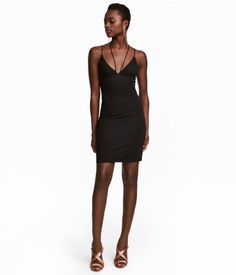 Fitted Dress | Black | Women | H&M US