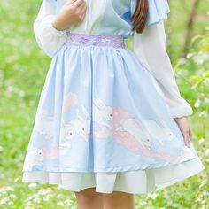"""Style:sweet Fabric:chiffon Color:blue. pink. Size:free size Length:52cm/20.28"""". Waist:58-88cm/22.62""""-34.32"""". Tips: *Please double check above size and consider your measurements before ordering, thank"""