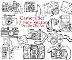 Doodle Camera clipart: CAMERA CLIP ART camera by ChiliPapers