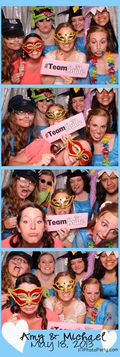 #TeamBride  Alas #TeamGroom never made it through the photo booth.