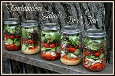 Living The FantabuLESS Life: FantabuLESS Salad in A Jar