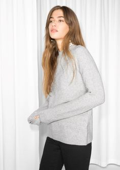 & Other Stories image 2 of Knit Sweater in Light Grey
