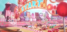 Sugar Rush Speedway Starting Line:  create your own sugar rush speedway using bright colorful candy colors