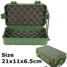 Tool Sets Strict Outdoor Shockproof Waterproof Boxes Survival Airtight Case Holder For Storage Matches Small Tools Edc Travel Sealed Containers Lovely Luster