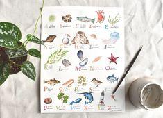 Garden Alphabet   WATERCOLOR Alphabet, Ann, Watercolor, Garden, Artwork, Pen And Wash, Watercolor Painting, Garten, Work Of Art