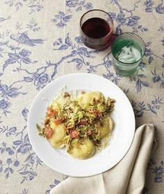 Ravioli With Brussels Sprouts and Bacon recipe Like for more