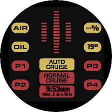 Image result for knight rider android watch face round