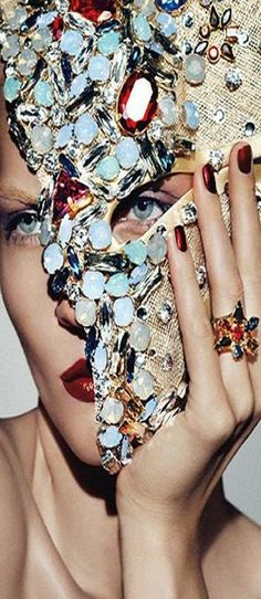 Swarovski - Karolin Wolter by Lado Alexi for Vogue Germany December 2012   The House of Beccaria#
