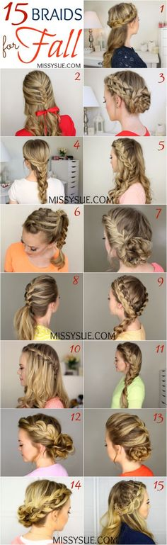 15 Braids for Fall from MissySue.com!
