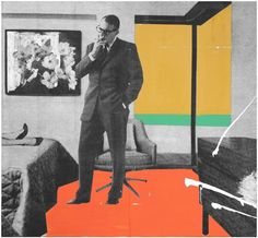 Room 235 by Mario Wagner, 2007 Collage and acrylic on canvas.