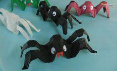 Arañas de Halloween hechas con hueveras - IMujer