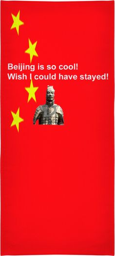 """Custom Beach Towel: Your personal statement """"Wish I could have stayed!"""" proves: You've been to Beijing, you travel the world, you know what is cool!! Bed Duvet cover, shower curtain, Sweatshirt, Hoodie, Yoga Pants, Joggers, Leggings, Phone Case, Beach Towel, Tank Top, Crop Top, T-Shirt,  underwear, swim shorts, Bandana, Onesie, couch pillow, pillowcase, Classic T-Shirt, OMG, BFF, Christmas, birthday, Valentine's day, poster, Easter, Pin, Pinterest,"""