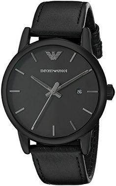 Emporio Armani Men's AR1732 Dress Black Leather Watch https://timetogetone.myshopify.com/