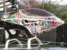 Sticker Bomb Vinyl Wrap Raptor Helicopter