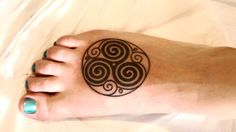 Attractive Spiral Circle Tattoo On Foot Hamsa Tattoo Meaning, Hamsa Tattoo Design, Moon Tattoo Designs, Tattoo Designs And Meanings, Tattoos With Meaning, Hand Tattoos, Hamsa Hand Tattoo, Sleeve Tattoos, Eye Tattoos