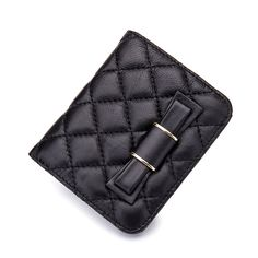 Cheap wallet lady, Buy Quality mini wallet directly from China ladies purse Suppliers: Women Genuine Leather Small Bowknot Cowhide Handbags Short Diamond lattice Wallet Lady Purses Elegant Handbag Girls Mini Wallet Black Wallet, Small Wallet, Lambskin Leather, Leather Wallet, Leather Bow, Bow Purse, Black Luxury, Purse Styles, Womens Purses