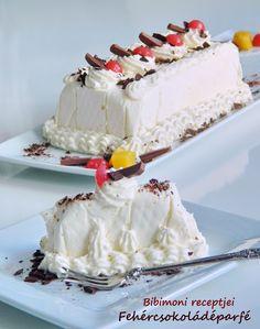 Bibimoni Receptjei: Fehércsokoládéparfé Vanilla Cake, Fudge, Cocktails, Ice Cream, Coolers, Food, Summer, Craft Cocktails, No Churn Ice Cream
