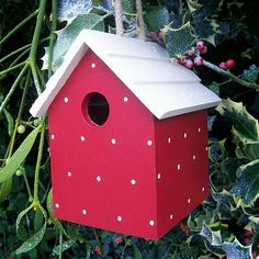 spotty birdhouse