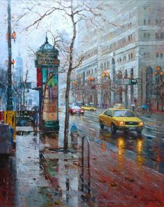 Po Pin Lin, award winning oil painter, signature member of OPA. SF cityscapes, landscapes and coastal scenes of CA. Acrylic Portrait Painting, Abstract Painting Techniques, Easy Canvas Painting, Acrylic Canvas, Diy Canvas, Acrylic Paintings, Watercolor Paintings, Urban Landscape, Landscape Art