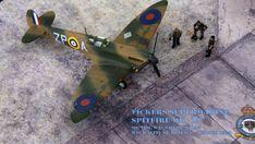 Supermarine Spitfire Mk.1a, P9953, ZP-A, No. 74 Squadron, Sq.-Ldr. D.F. Sailor Malan, RAF Battle of Britain, summer 1940 Supermarine Spitfire, Battle Of Britain, Ldr, Scale Models, Airplane, Sailor, Fighter Jets, Aircraft, Creative