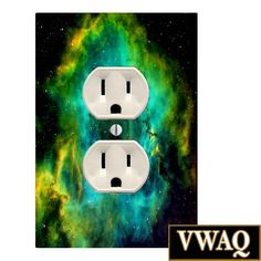 Space Galaxy Wall Plug Cover With Skin (Ready to Hang) Outer Space Nebula Outer Space Room Decor VWAQ-OU16WP