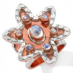 CL by Design Hammered Copper and Moonstone Ring at HSN.com.