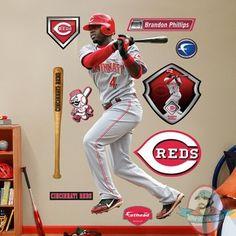 brandon phillips | Fathead Fat head Brandon Phillips Cincinnati Reds | Man of Action ...