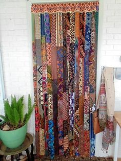 Tribal BOHEMIAN Walk Thru Door Curtain 45 X 82 Thesleepyarmadillo