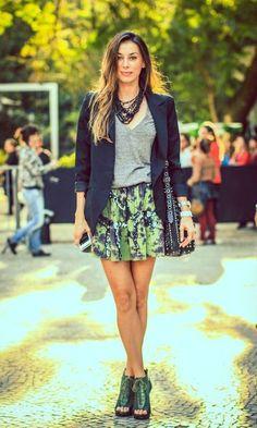Moda it - Look: Blazer + Saia Estampada | Moda it