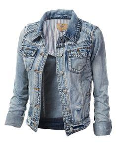 Kupírované džínsové bundy Women 23834showing.jpg