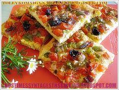 <Η συνταγη ειναι της Αργυρως Μπαρμπαριγου. Pizza Recipes, Vegetarian Recipes, Dessert Recipes, Cooking Recipes, Healthy Recipes, Healthy Foods, Cookie Dough Pie, Eat Greek, Good Food