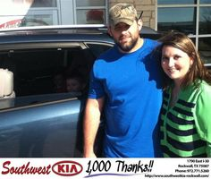 #HappyBirthday to Megan & Jason  Haynes  from Tony Macaluso  at Southwest KIA Rockwall!