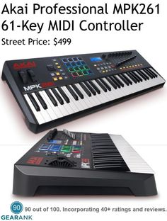 Akai Professional MPK261 61-Key MIDI Controller Keyboard.  This is one of the highest rated 61-key MIDI controllers available.