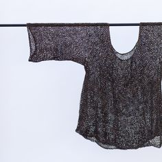 by Heidi Iverson~ with two strands of Sally Fox's organic cotton over-dyed in crushed black oak galls and iron. #knitted