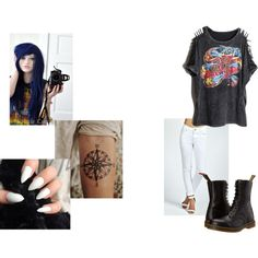 Untitled #144 by cupcakegirl1212 on Polyvore featuring Dr. Martens