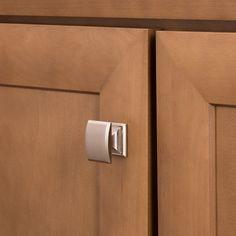 Shop Brainerd Architectural Satin Nickel Square Cabinet Knob at Lowes.com