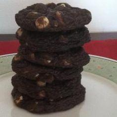 Chocolate Duet Sandwich Cookie With Walnuts Recipe