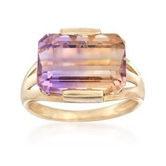Ross-Simons - 8.00 ct. t.w. Ametrine Ring in 14kt Yellow Gold - #846155