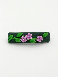 Purple Flower Barrette 2.5 Inches; Spring Blossom; Floral Hair Accessory Fashion; Style No: PUF03 by EmilyMah on Etsy